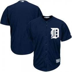 MLB Tigers Blank Navy Blank Cool Base Men Jersey