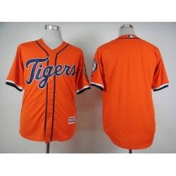 MLB Tigers Blank Orange Blank Men Jersey