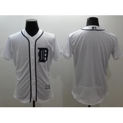 MLB Tigers Blank White Blank Cool Base Men Jersey