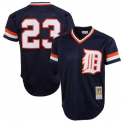 Men Detroit Tigers Kirk Gibson Mitchell & Ness 1984 Authentic Cooperstown Collection Mesh Batting Practice Jersey Navy