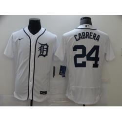 Men Nike Detroit Tigers 24 Miguel Cabrera  Flexbase White Jersey MLB Jersey