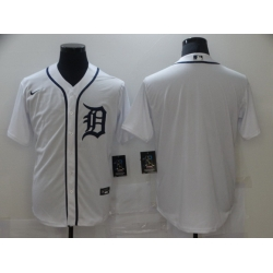 Men Nike Detroit Tigers White blank 2020 Authentic Official Team MLB Jersey