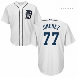 Mens Majestic Detroit Tigers 77 Joe Jimenez Replica White Home Cool Base MLB Jersey