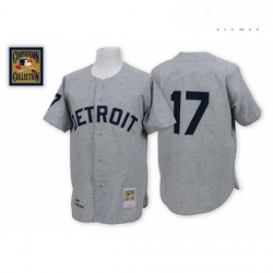 Mens Mitchell and Ness 1968 Detroit Tigers 17 Denny Mclain Authentic Grey Throwback MLB Jersey