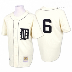 Mens Mitchell and Ness 1968 Detroit Tigers 6 Al Kaline Replica Cream Throwback MLB Jersey
