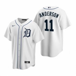 Mens Nike Detroit Tigers 11 Sparky Anderson White Home Stitched Baseball Jersey