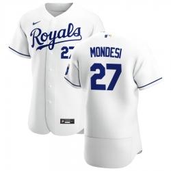 Men Kansas City Royals 27 Adalberto Mondesi Men Nike White Home 2020 Flex Base Player MLB Jersey