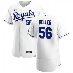 Men Kansas City Royals 56 Brad Keller Men Nike White Home 2020 Flex Base Player MLB Jersey