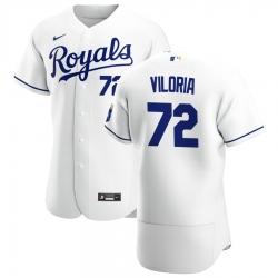Men Kansas City Royals 72 Meibrys Viloria Men Nike White Home 2020 Flex Base Player MLB Jersey