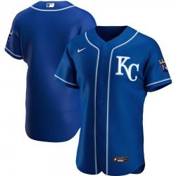 Men Kansas City Royals Men Nike Royal Alternate 2020 Flex Base Official Team MLB Jersey
