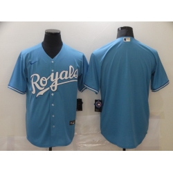 Men Kansas City Royals Nike Blue Blank Jersey II
