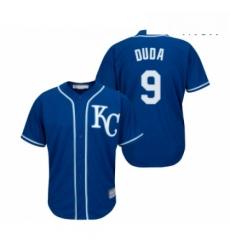 Mens Kansas City Royals 9 Lucas Duda Replica Blue Alternate 2 Cool Base Baseball Jersey