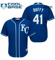 Mens Majestic Kansas City Royals 41 Danny Duffy Replica Blue Alternate 2 Cool Base MLB Jersey