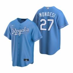 Mens Nike Kansas City Royals 27 Adalberto Mondesi Light Blue Alternate Stitched Baseball Jersey