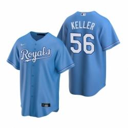 Mens Nike Kansas City Royals 56 Brad Keller Light Blue Alternate Stitched Baseball Jersey