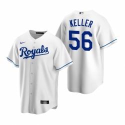 Mens Nike Kansas City Royals 56 Brad Keller White Home Stitched Baseball Jersey