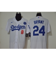 Dodgers 24 Kobe Bryant White 2020 Nike KB Cool Base Jersey