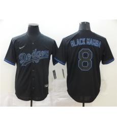 Dodgers 8 Manny Machado Black Shadow 2020 Nike Cool Base Jersey