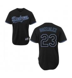 Men Los Angeles Dodgers Adrian Gonzalez Official Black Authentic Majestic Fashion MLB MLB Jersey
