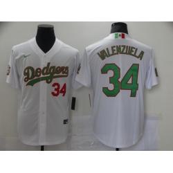 Men Los Angeles Dodgers Mexican Fernando Valenzuela 34 World Series White MLB Jersey