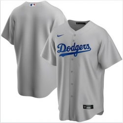 Men Los Angeles Dodgers Nike Gray Blank Jersey