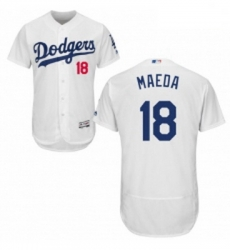 Mens Majestic Los Angeles Dodgers 18 Kenta Maeda White Flexbase Authentic Collection MLB Jersey