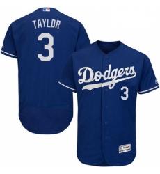 Mens Majestic Los Angeles Dodgers 3 Chris Taylor Royal Blue Alternate Flex Base Collection 2018 World Series Jersey