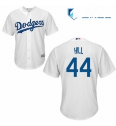 Mens Majestic Los Angeles Dodgers 44 Rich Hill Replica White Home Cool Base MLB Jersey