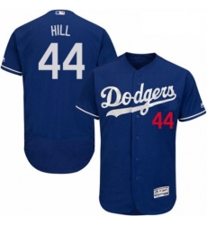 Mens Majestic Los Angeles Dodgers 44 Rich Hill Royal Blue Alternate Flex Base Authentic Collection MLB Jersey