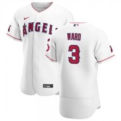 Men Los Angeles Angels 3 Taylor Ward Men Nike White Home 2020 Flex Base Player MLB Jersey