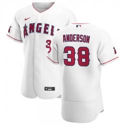 Men Los Angeles Angels 38 Justin Anderson Men Nike White Home 2020 Flex Base Player MLB Jersey