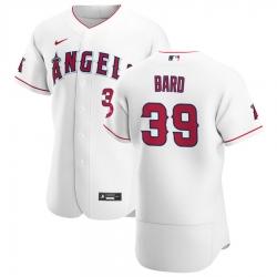 Men Los Angeles Angels 39 Luke Bard Men Nike White Home 2020 Flex Base Player MLB Jersey