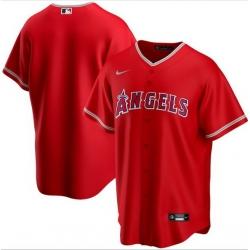 Men Los Angeles Angels Nike Red Blank Jersey