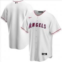 Men Los Angeles Angels Nike White Blank Jersey