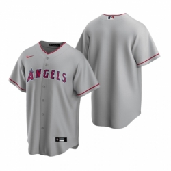 Mens Nike Los Angeles Angels Blank Gray Road Stitched Baseball Jersey