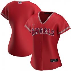 Los Angeles Angels Nike Women Alternate 2020 MLB Team Jersey Red