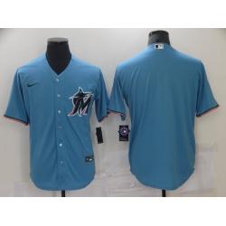 Men Nike Miami Marlins Blue Blank Baseball Stitched Jersey