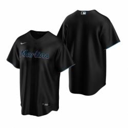 Mens Nike Miami Marlins Blank Black Alternate Stitched Baseball Jersey