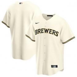 Men Milwaukee Brewers Nike White Blank Jersey