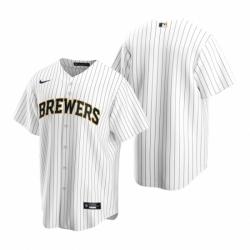 Mens Nike Milwaukee Brewers Blank White Alternate Stitched Baseball Jersey