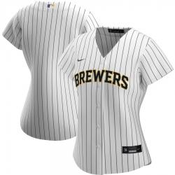 Milwaukee Brewers Nike Women Alternate 2020 MLB Team Jersey White Navy