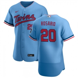 Men Minnesota Twins 20 Eddie Rosario Men Nike Light Blue Alternate 2020 Flex Base Team MLB Jersey