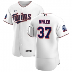 Men Minnesota Twins 37 Matt Wisler Men Nike White Home 2020 60th Season Flex Base Team MLB Jersey