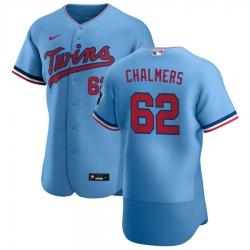 Men Minnesota Twins 62 Dakota Chalmers Men Nike Light Blue Alternate 2020 Flex Base Team MLB Jersey