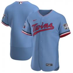 Men Minnesota Twins Men Nike Light Blue Alternate 2020 Flex Base Team MLB Jersey