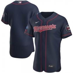 Men Minnesota Twins Men Nike Navy Alternate 2020 60th Season Flex Base Team MLB Jersey