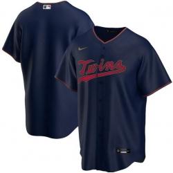 Men Minnesota Twins Nike Navy Blue Blank Jersey