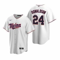 Mens Nike Minnesota Twins 24 Josh Donaldson White Home Stitched Baseball Jersey