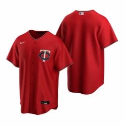 Mens Nike Minnesota Twins Blank Red Alternate Stitched Baseball Jersey