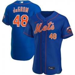 Men New York Mets 48 Jacob deGrom Men Nike Royal Alternate 2020 Flex Base Player MLB Jersey